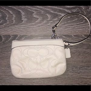 Coach wristlet leather 7 1/2 x 5 inches